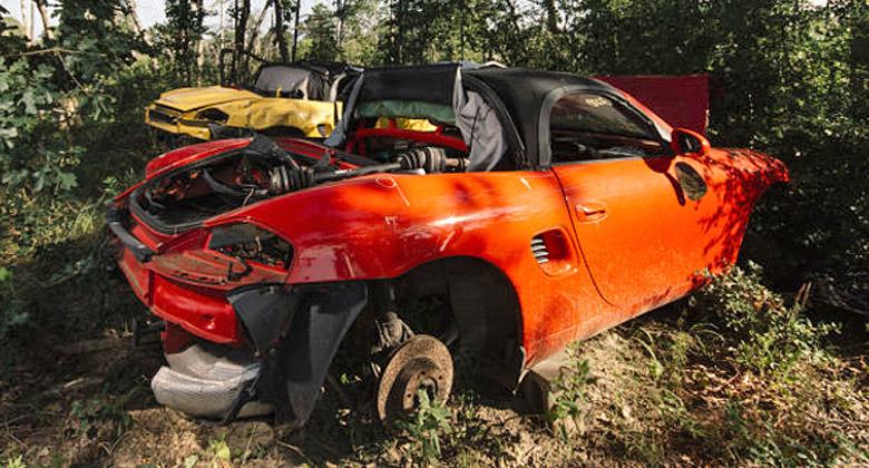 Zna�kov� poh�ebi�t� Porsche v Texasu. Kde se vzalo?