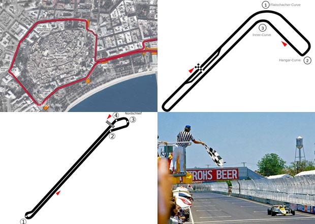 Nejdivnější okruhy F1 v historii: Dálnice, ulice i parkoviště!
