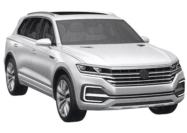 VW Touareg na patentových snímcích: Je tohle nová generace?