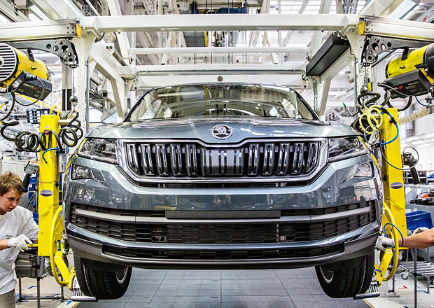 Škoda zahajuje sériovou výrobu kodiaqu. U zákazníků bude až v únoru