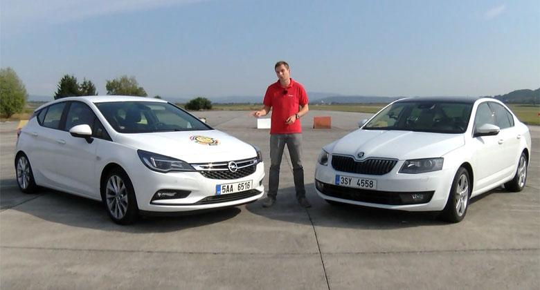 Video: Opel Astra 1.0 Turbo vs. �koda Octavia 1.0 TSI. M���me pru�n� zrychlen� s p�l tunou na palub�!
