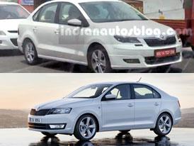 Škoda Rapid: První fotky faceliftu! S malým háčkem...