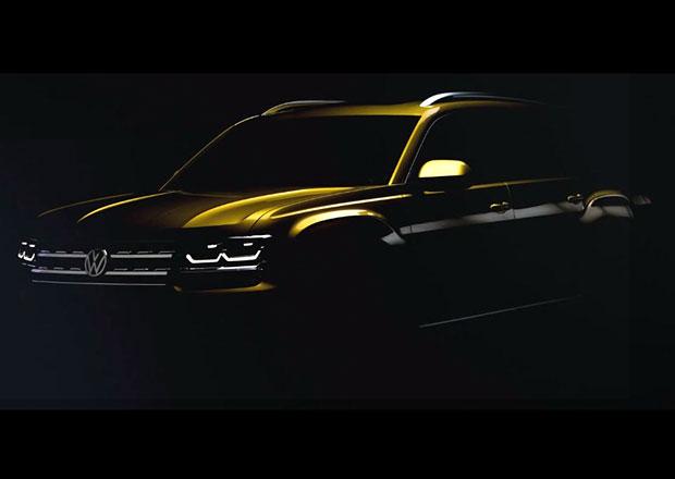 VW začíná odhalovat sedmimístný Atlas. Zatím vypadá jak pick-up