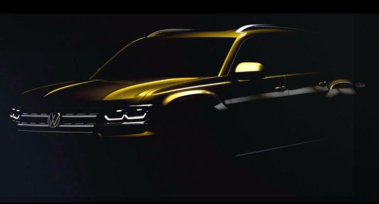 VW za��n� odhalovat sedmim�stn� Atlas. Zat�m vypad� jak pick-up