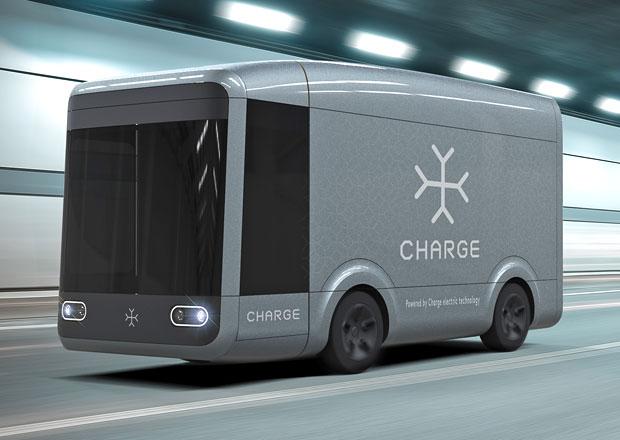 Charge pracuje na elektřinou poháněném nákladním voze