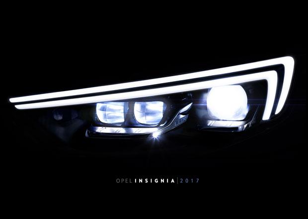 Nový Opel Insignia ukazuje svůj světlomet. Kolik napočítáte diod?