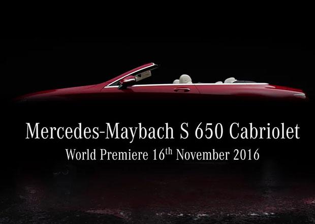 Mercedes-Maybach S Cabriolet na první upoutávce