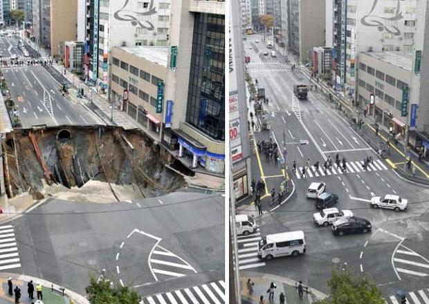 Inspirace pro ŘSD: V Japonsku opravili obří kráter za týden!