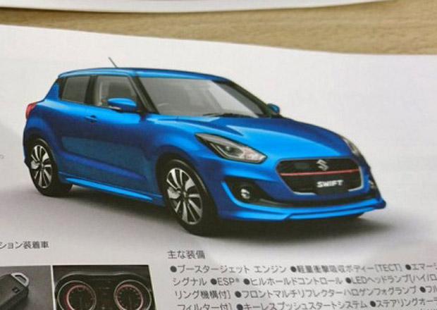 Nové Suzuki Swift na dalších snímcích! Tentokrát utekla oficiální brožura