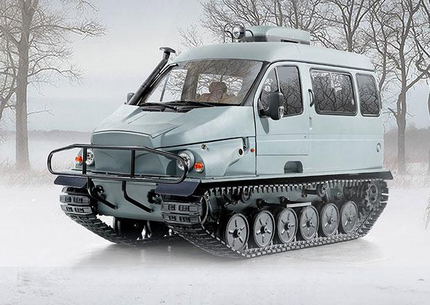 Ruský GAZ zkřížil dodávku, tank a člun. A vznikl Bobr. Jezdí i v Česku!
