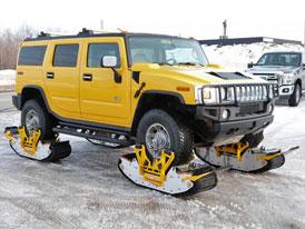 Sněhové řetězy jsou pro slečinky. Udělejte si vlastní pásové vozidlo!