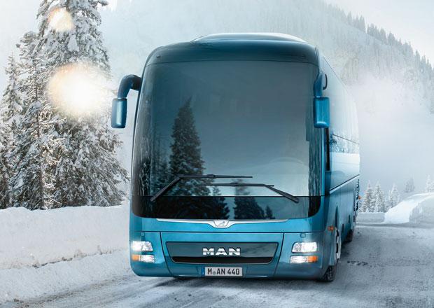 Autobusy MAN a cestování s lyžařským vybavením
