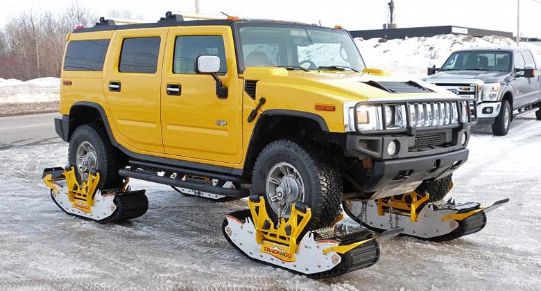 Jak si poradit se sněhem? Udělejte si pásové vozidlo. Stačí na to 15 minut