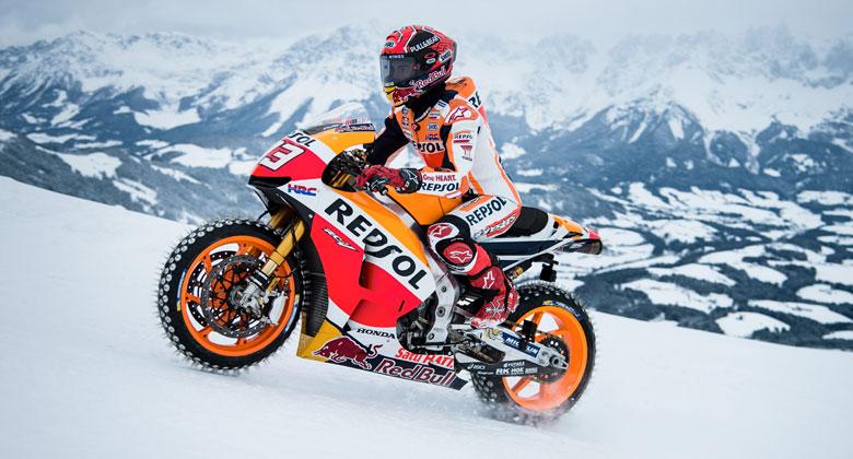 Marc Márquez vzal speciál pro MotoGP na sjezdovku. A přežil!