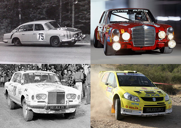 I tato auta závodila: Tatra 603, kombík od Saabu, Volha nebo Rolls-Royce!