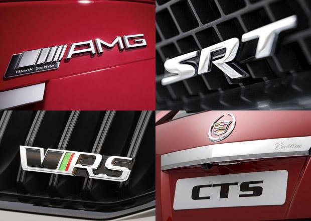 Automobilové zkratky: Víte, co znamená AMG, CC, MCV, RS nebo WRX?