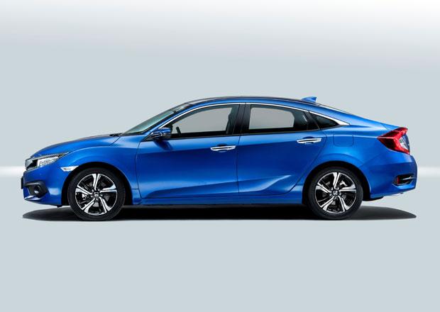 Honda Civic sedan se bude prodávat i u nás. Kolik stojí?