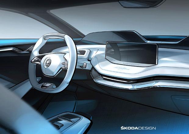 Škoda Vision E odhaluje interiér!