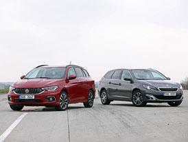 Fiat Tipo kombi 1.6 MultiJet vs. Peugeot 308 SW 1.6 BlueHDi – Dovolená: Itálie, nebo Francie?