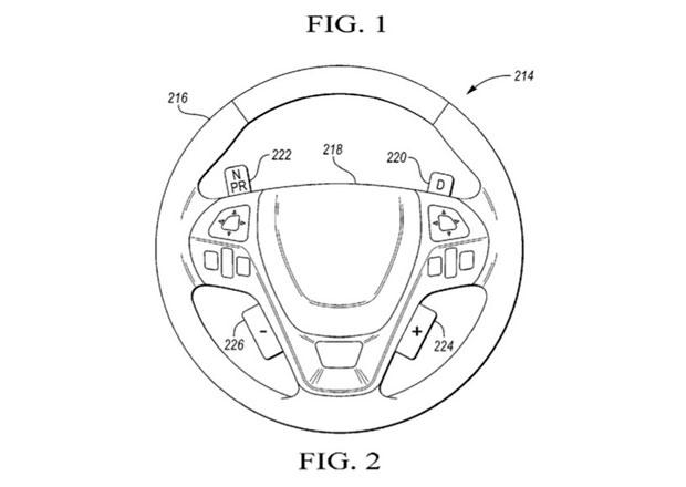 Ford si patentoval bizarní převodovku umístěnou... Na volantu!