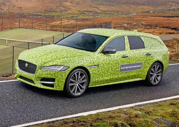 Premiéra velkého kombi Jaguar XF Sportbrake se blíží. Odhalen bude na Wimbledonu