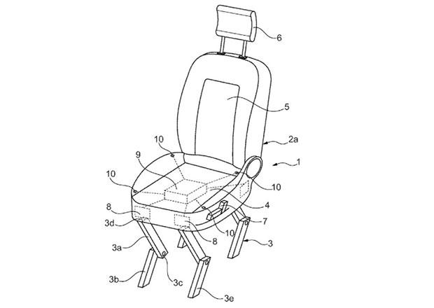 Bizarní patent Fordu: Sedačka, která za vás vystoupí z auta!