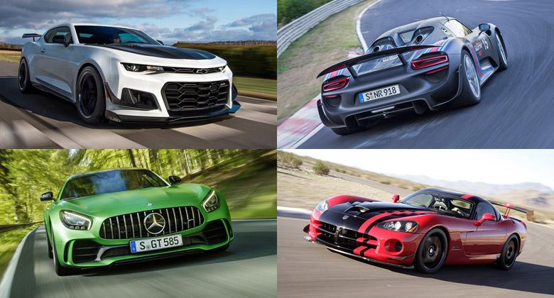 Podívejte se na desítku nejrychlejších produkčních aut na Nürburgringu v akci