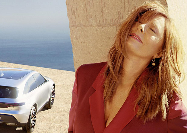 Mercedes EQ před objektivem: Pózuje s pohlednou oscarovou herečkou