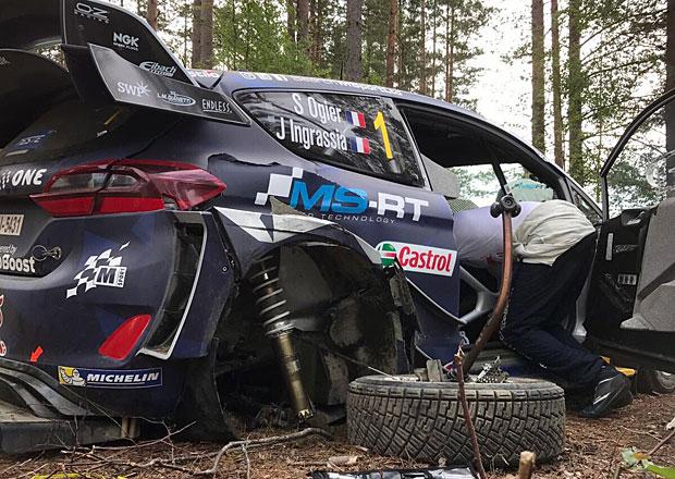 Finská rallye po 1. dnu: Ogier boural, vede Lappi