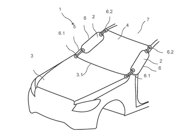 Mercedes si nechal patentovat airbag pro chodce, Volvo to před časem vzdalo