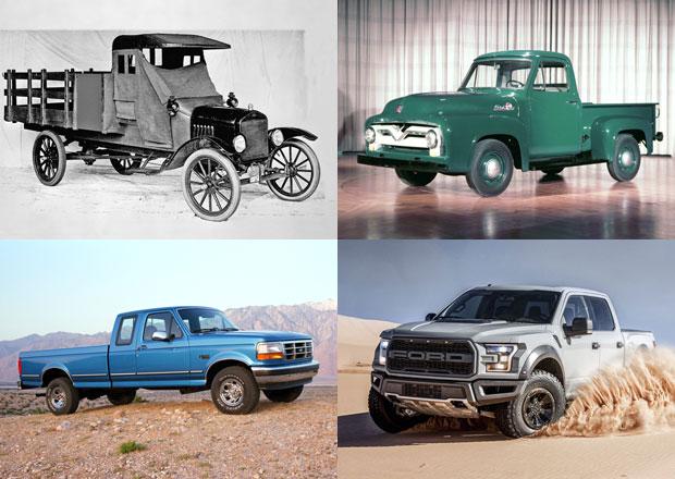 Ford slaví 100 let svých pick-upů. Prohlédněte si obří galerii