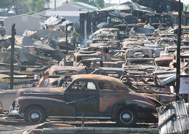 Nevyčíslitelná škoda: Obří požár v Illinois zničil přes 150 ikonických klasik