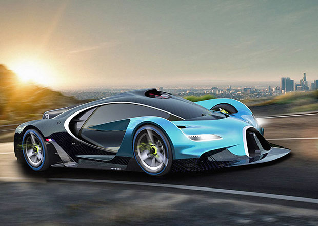 Bugatti se ve vizi Adriana Bigginse vrací na závodní tratě