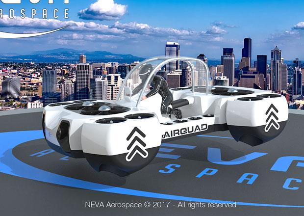 Neva AirQuadOne bude létající elektrická čtyřkolka