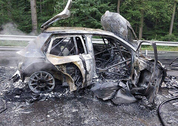 Racing 21 na Barum Rallye 2017: Když oheň ničí