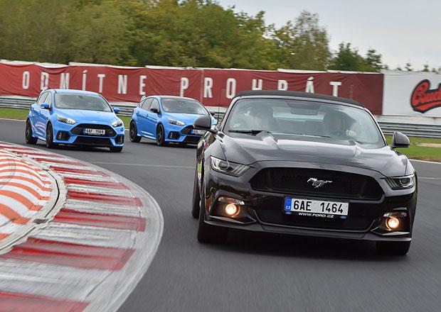 Rychlé Fordy v Mostě: Mustangy, ještě silnější Mustangy a speciální Focus RS