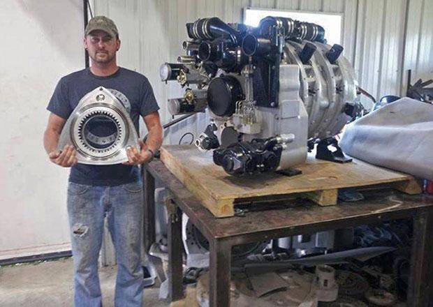 Šílený rotační motor: Wankel s objemem 11,6 litru, který spaluje skoro všechno!