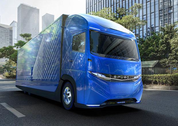 E-Fuso Vision One: Těžké nákladní vozidlo s elektrickým pohonem z Japonska