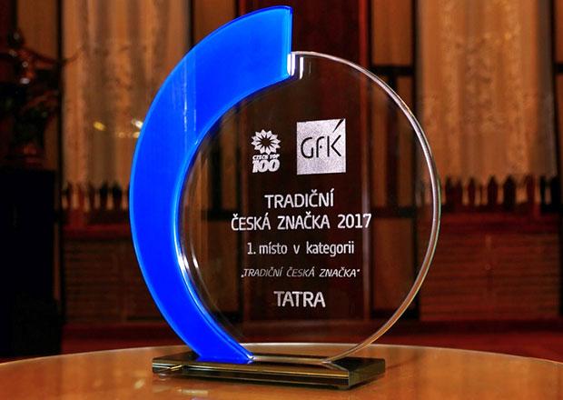 Společnost Tatra Trucks získala prestižní ocenění Tradiční česká značka 2017