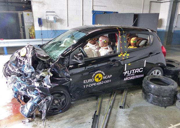 Euro NCAP 2017: Opel Karl – Tři hvězdy namísto dosavadních čtyř hvězd