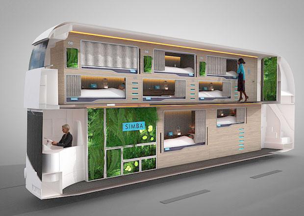 Simba Snoozeliner: Lůžkový double-decker pro noční městské linky