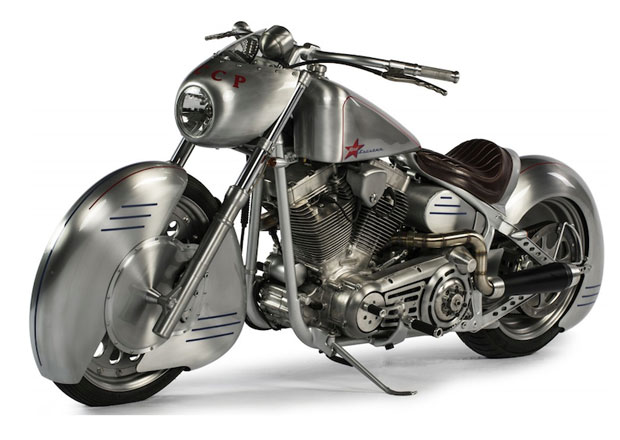 Yuri Shif Custom Gagarin je Harley-Davidson v kosmickém stylu