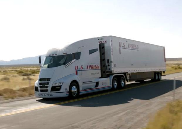 Nikola Motor Company předvádí v pohybu elektrický tahač One