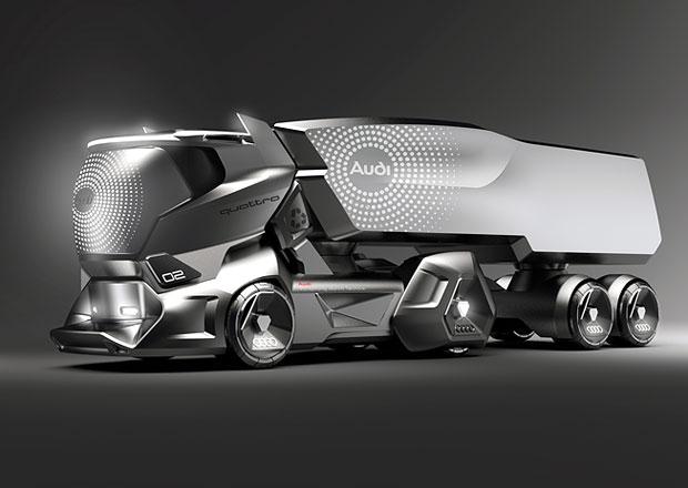 Jak by mohl vypadat tahač Audi? Odpověď na Teslu Semi je ještě ostřejší