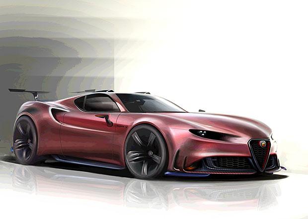 Alfa Romeo 4C Abarth: Vize nástupce 8C Competizione. Jako čtyřválec a hybrid?