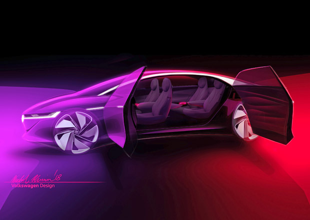 VW přiveze do Ženevy velký elektrický sedan s fantastickým dojezdem! Na volant zapomeňte