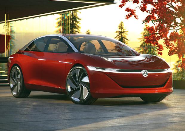 Volkswagen I.D. Vizzion: Šmrncovní velký elektrický sedan si koupíme za čtyři roky