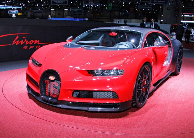 Bugatti Chiron Sport: Stejný výkon, menší váha a lepší ovladatelnost