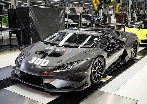 Lamborghini vyrobilo závodní Huracán s pořadovým číslem 300