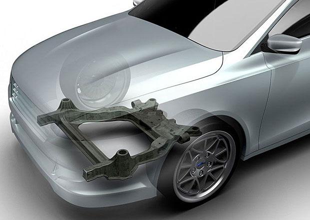 Nápravnice aut z kompozitu: Nižší hmotnost, méně částí!